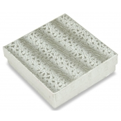 Silver Cotton Filled Jewelry Boxes (Mix Jewelry)