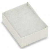 View Top Cotton Filled Boxes (White/Clear - Earrings, Pings, Broaches