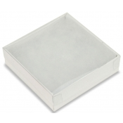 View Top Cotton Filled Boxes (White/Clear - Large Pieces, Compacts