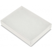 View Top Cotton Filled Boxes (White/Clear - Billfolds, Bangles)