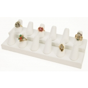 Ring Display - 12 Fingers (White)
