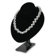 Adjustable Bust Necklace Display (Black Velvet)