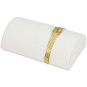 Half-Moon Display (White Faux Leather)