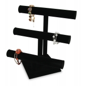 3-Tier T-Bar Display (Black Velvet)