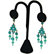 Lamp Style Earring Displays (Black Velvet)