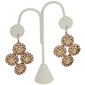 Lamp Style Earring Displays (White Faux Leather)