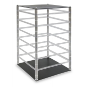 Revolving 6-Tier Carded Jewelry Display (Clear / Black)
