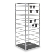 Revolving 9-Tier Carded Jewelry Display (Clear / Black)