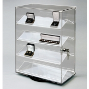 Revolving Acrylic / 4 Shelf Display Case (Clear)