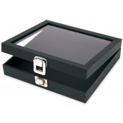 Glass Lid Display Trays w/ Clasp (Small)
