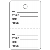 Large White Unstrung Perforated Tags