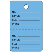 Large Blue Unstrung Perforated Tags
