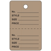 Large Grey Unstrung Perforated Tags