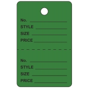 Large Dark Green Unstrung Perforated Tags