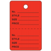 Large Red Unstrung Perforated Tags
