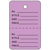 Small Lavender Unstrung Perforated Tags