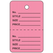 Small Pink Unstrung Perforated Tags
