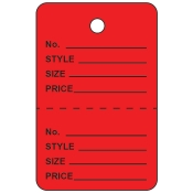 Small Red Unstrung Perforated Tags