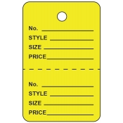 Small Yellow Unstrung Perforated Tags