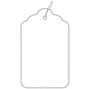 "Strung Scalloped Edge Tags (1.75"" x 2.88"")"
