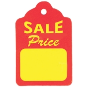 "Unstrung Sales Price Tags (1.25"" x 1.88"")"
