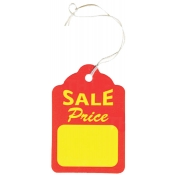 "Strung Sales Price Tags (1.25"" x 1.88"")"