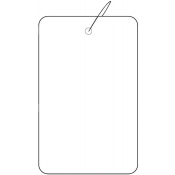 "Strung Plain White Tags (1.75"" x 2.88"")"