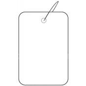 "Strung Plain White Tags (1.25"" x 1.88"")"