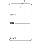 "Strung Style, Size, and Price Tags (1.75"" x 2.88"")"