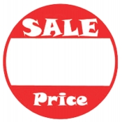 "1"" Dia Sale Price Promo Label"