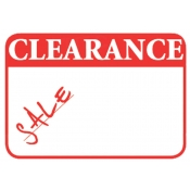 Clearance Promo Label