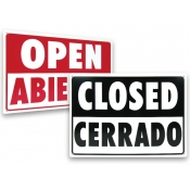 "Open Closed Sign English and Spanish  (14"" x 10"")"