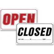 XL-Open and Closed Sign