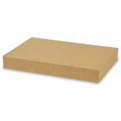 "Kraft 2-Piece Apparel Boxes (10"" x 7"" x 1.5"")"
