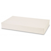 "White 2-Piece Apparel Boxes (15"" x 9.5"" x 2"")"