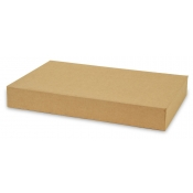 "Kraft 2-Piece Apparel Boxes (15"" x 9.5"" x 2"")"