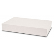 "White 2-Piece Apparel Boxes (19"" x 12"" x 3"")"