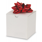 "White 1-Piece Flip Up Gift Boxes (4"" x 4"" x 4"")"
