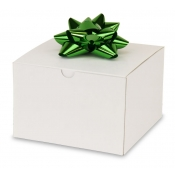 "White 1-Piece Flip Up Gift Boxes (6"" x 6"" x 4"")"