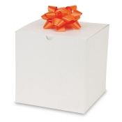 "White 1-Piece Flip Up Gift Boxes (7"" x 7"" x 7"")"