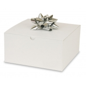 "White 1-Piece Flip Up Gift Boxes (8"" x 8"" x 4"")"