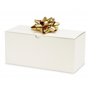 "White 1-Piece Flip Up Gift Boxes (10"" x 4.5"" x 4.5"")"