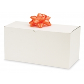 "White 1-Piece Flip Up Gift Boxes (12"" x 6"" x 6"")"