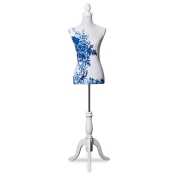"Boutique Dress Form ""Blue Blossom"" Style"