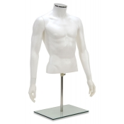 Headless Half Body Male Plastic Torso Mannequin