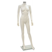 "White Headless Plastic Female Mannequin (Style ""A"")"