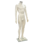 "White Headless Plastic Male Mannequin (Style ""A"")"