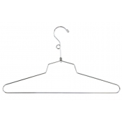 "16"" Metal Dress Hanger with Loop"