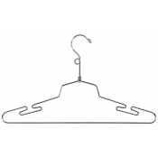 "16"" Metal Lingerie Hanger with Loop"