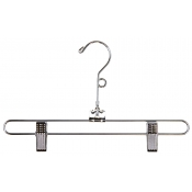 "12"" Metal Skirt Hanger with Loop"
